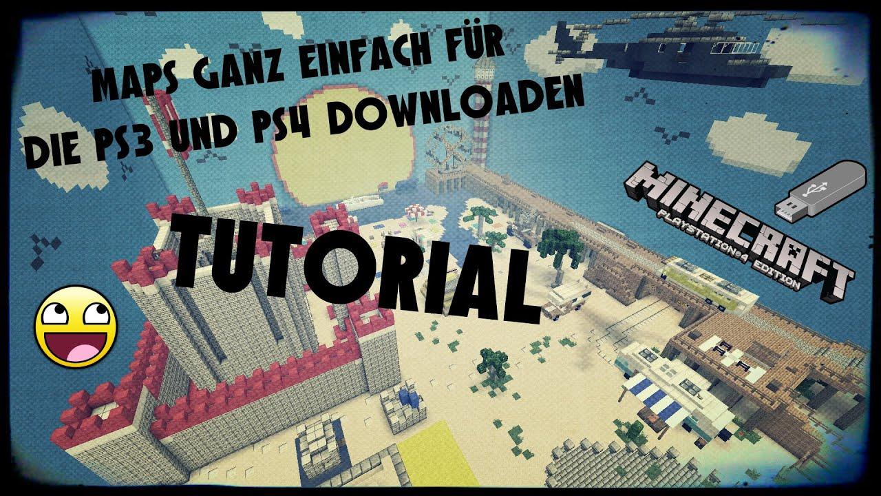 Minecraft Tutorial Maps Ganz EINFACH Für Die PS Und PS - Wie lade ich mir maps fur minecraft runter