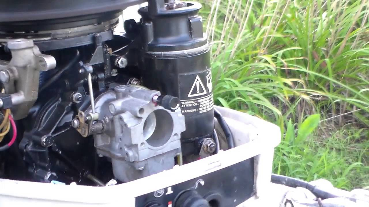 50 Johnson Outboard Motor Diagram Anterior Forearm Muscle Anatomy 1988 25hp New Carburetor Installed - Youtube