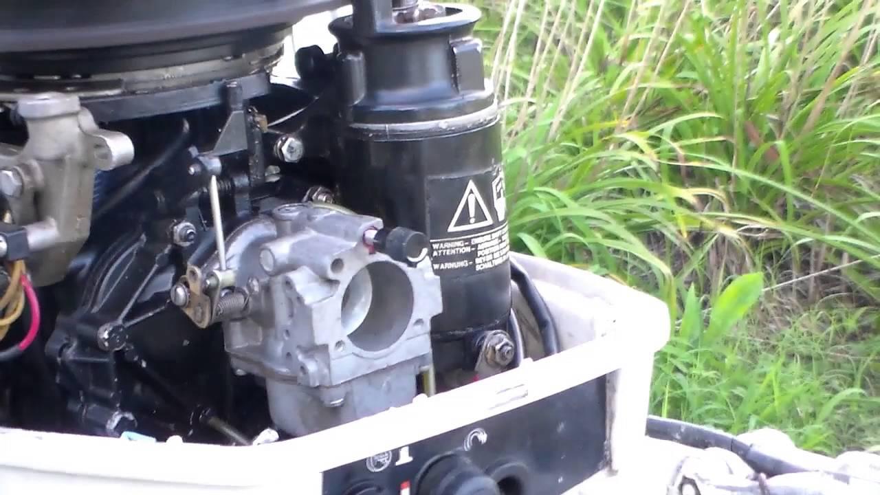 1988 Johnson 25HP New Carburetor Installed - YouTube