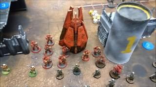 Warhammer 40k 1500pts 7th Ed. Battle Report -Modian Iron Guard vs Blood Angels and Skittari