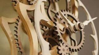 Wooden Clock By Ron Marston