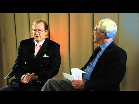 Sir Roger Moore and Barry Norman at The Persuaders! 40th Anniversary Event