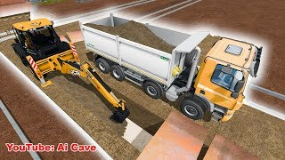 How to dig pipeline ditch. New Construction and Mining Map - Farming Simulator 2017 Mods