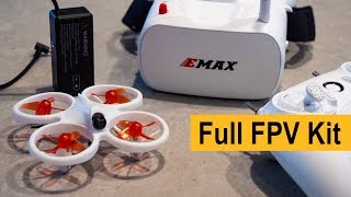 EMAX EZ Pilot Beginner FPV Drone Kit - Unboxing, Set Up, Flight Demo