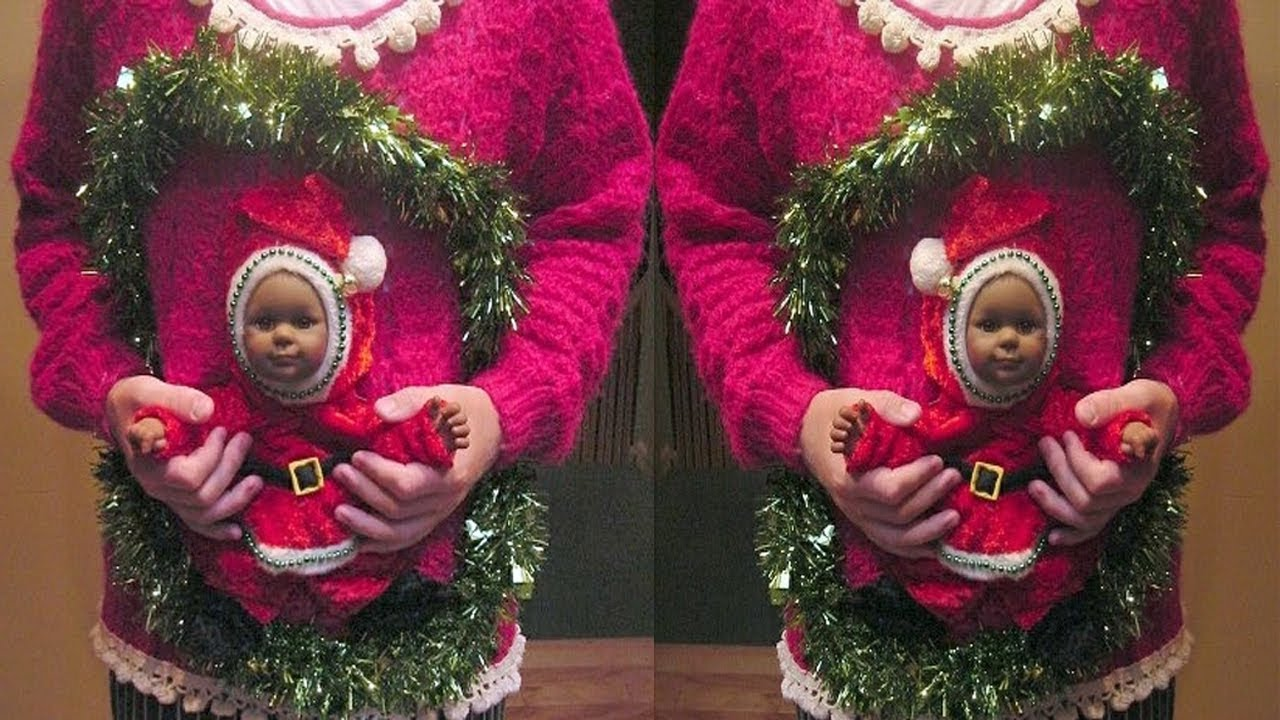 How to make snow globe christmas sweater