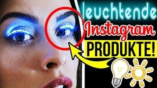 WTF INSTAGRAM PRODUKTE 😱 LEUCHTENDER TREND!! 🌈 BEAUTY LED WIMPERN HACKS im TEST für HALLOWEEN!