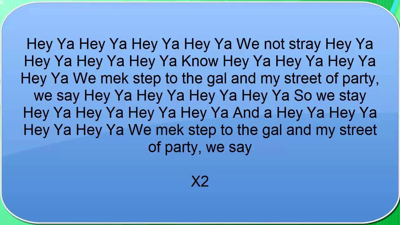 Lyrics zum abspritzen von ya