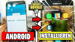 Fortnite ANDROID 📲 SO INSTALLIERT ihr die APK | Fortnite Mobile auf Handy Deutsch German