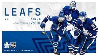 NHL 19 PS4. REGULAR SEASON 2018-2019: Los Angeles KINGS VS Toronto MAPLE LEAFS. 10.15.2018. (NBCSN)!