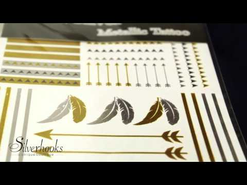 Metallic Gold & Silver Temporary Tattoos