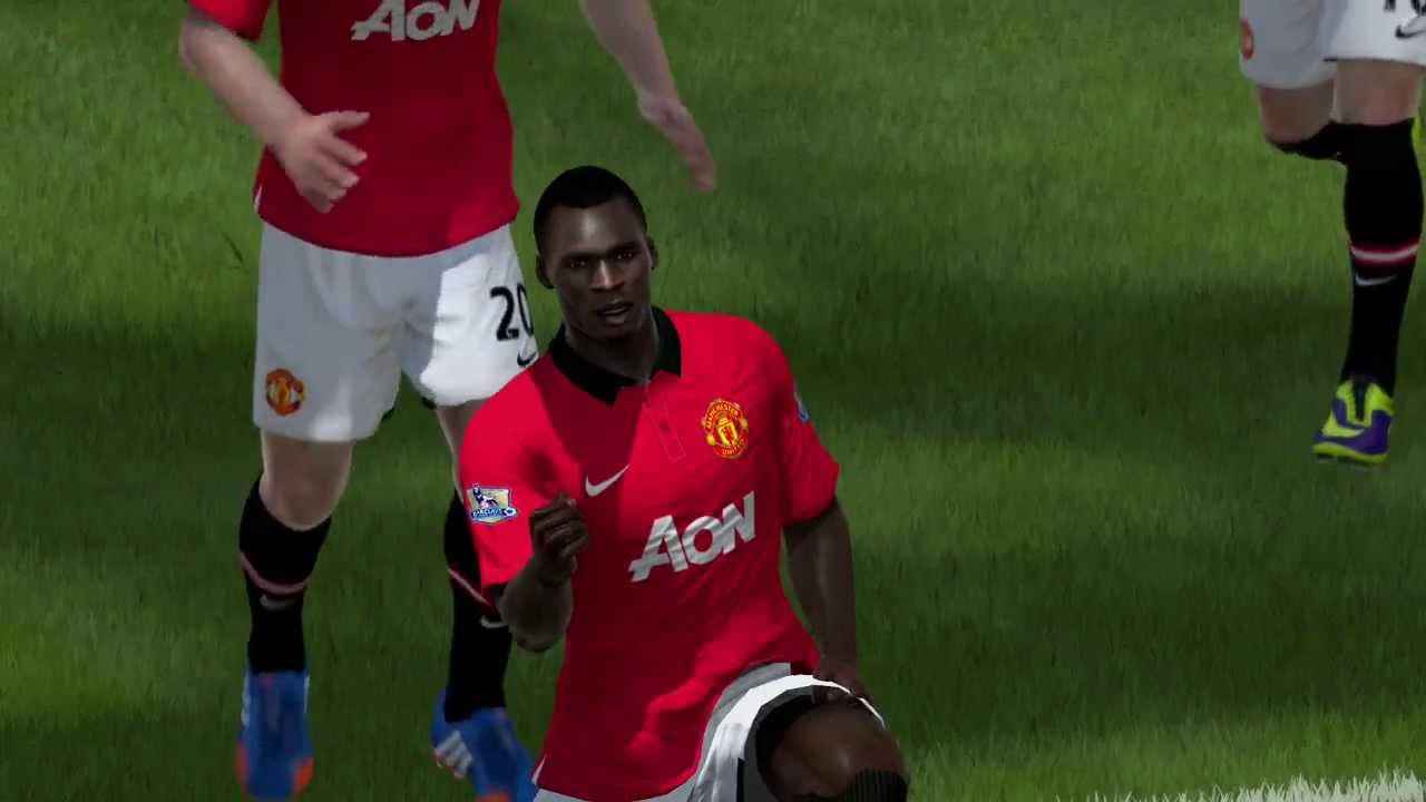 FIFA 14 Christian Benteke scores with a header in Ultimate Team