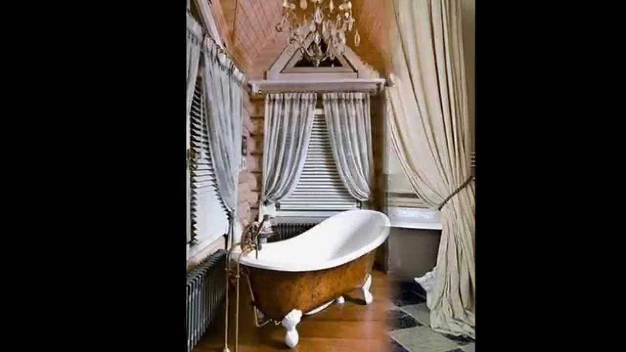 clawfoot tub shower curtain by