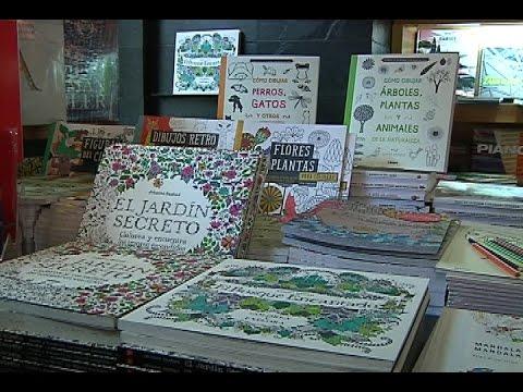 El éxito de los libros de pintar para adultos - YouTube