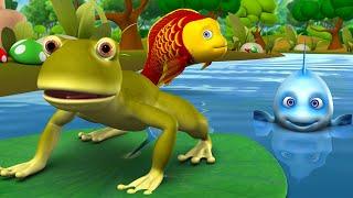 புத்திசாலி தவளை தமிழ் கதை - Schlaue Frosch und die Fische Tamil Story 3D-Animierte Kinder Moralische Geschichten