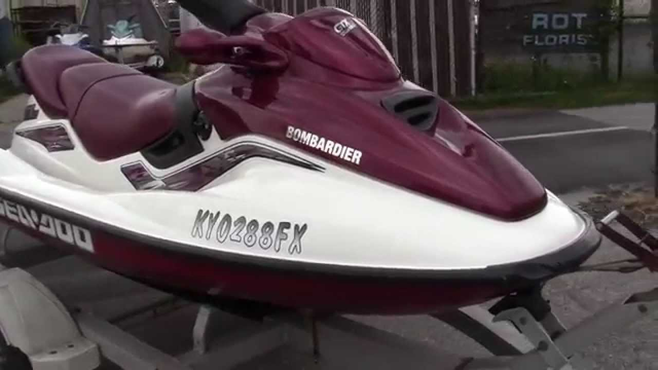 1999 SeaDoo GTX jet ski walk-around video