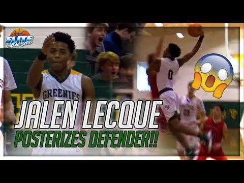 Jalen Lecque Posters Defender & Then Hits FULL COURT Shot!