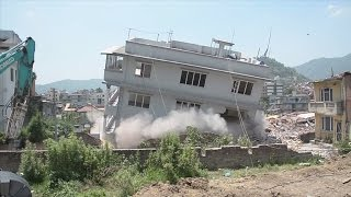Nepal House Demolition Video after Earthquake 7.9 M hits Nepal -2015