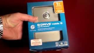G-Drive 1TB Mobile External HD With ThunderBolt & USB 3.0