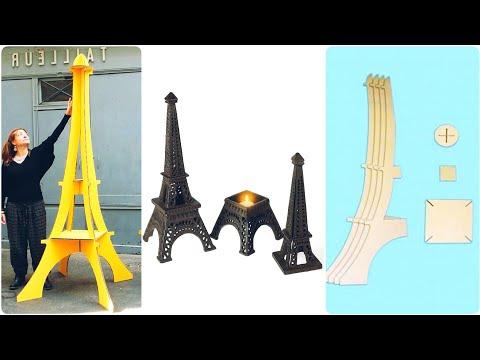 DIY Super Easy Cardbord Eiffel Tower |Home Decor Ideas For Eiffel Tower Lovers