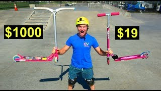 $19 SCOOTER VS $1000 PRO SCOOTER!