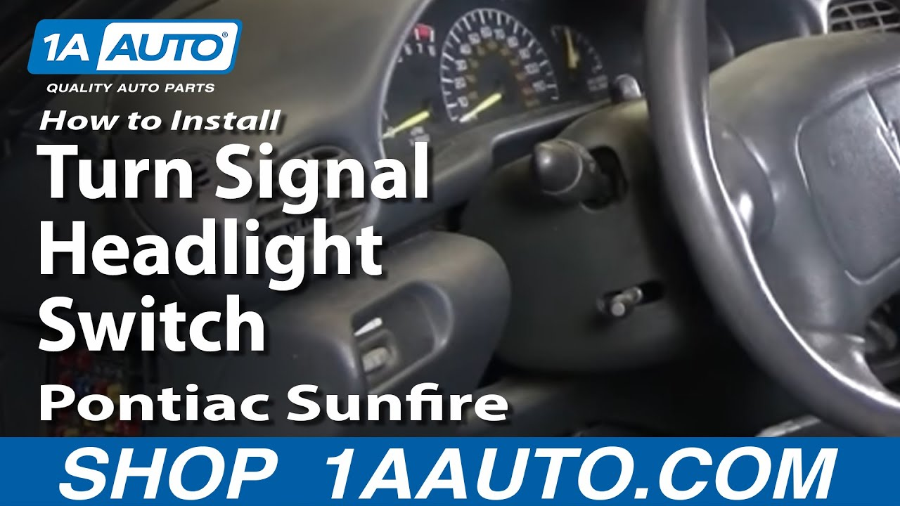 How To Install Fix Turn Signal Headlight Switch Chevy Cavalier 2004 Isuzu Rodeo Wiring Schematic Pontiac Sunfire 95 05 1aautocom Youtube