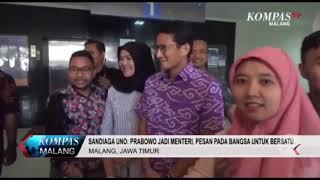 Sandiaga Uno: Prabowo Jadi Menteri Wujud Persatuan Indonesia