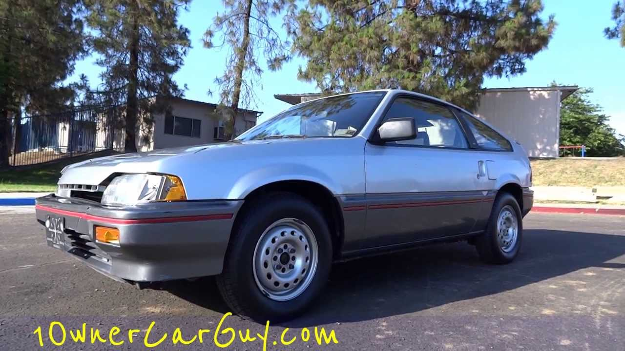 medium resolution of 87 honda crx civic hf hatchback coupe 1 5l 1 owner 81k original miles fuel economy car review youtube