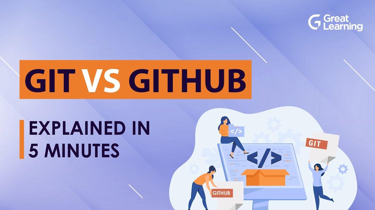 Git vs GitHub Explained in 5 Mins   Git & Github Differences   Git tutorial