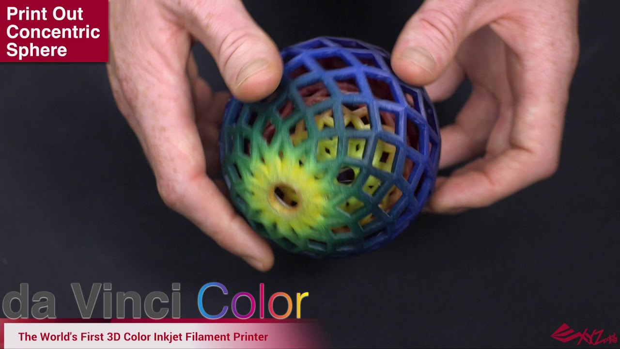 da Vinci Color Print Out Concentric Sphere - YouTube