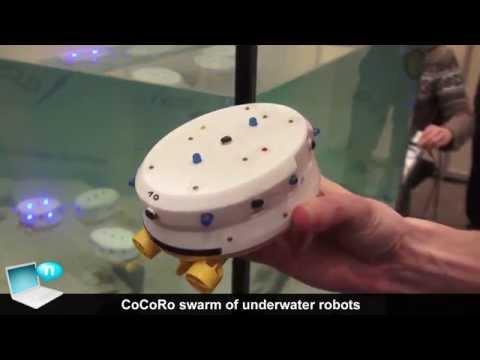 CoCoRo swarm of underwater robots