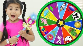 Suri Pretend Play Kids Story About Magic Spin Wheel