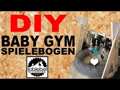 DIY Baby Gym selber machen Spielebogen selber bauen Kinderspielzeug Spielzeug Babyspielzeug selber