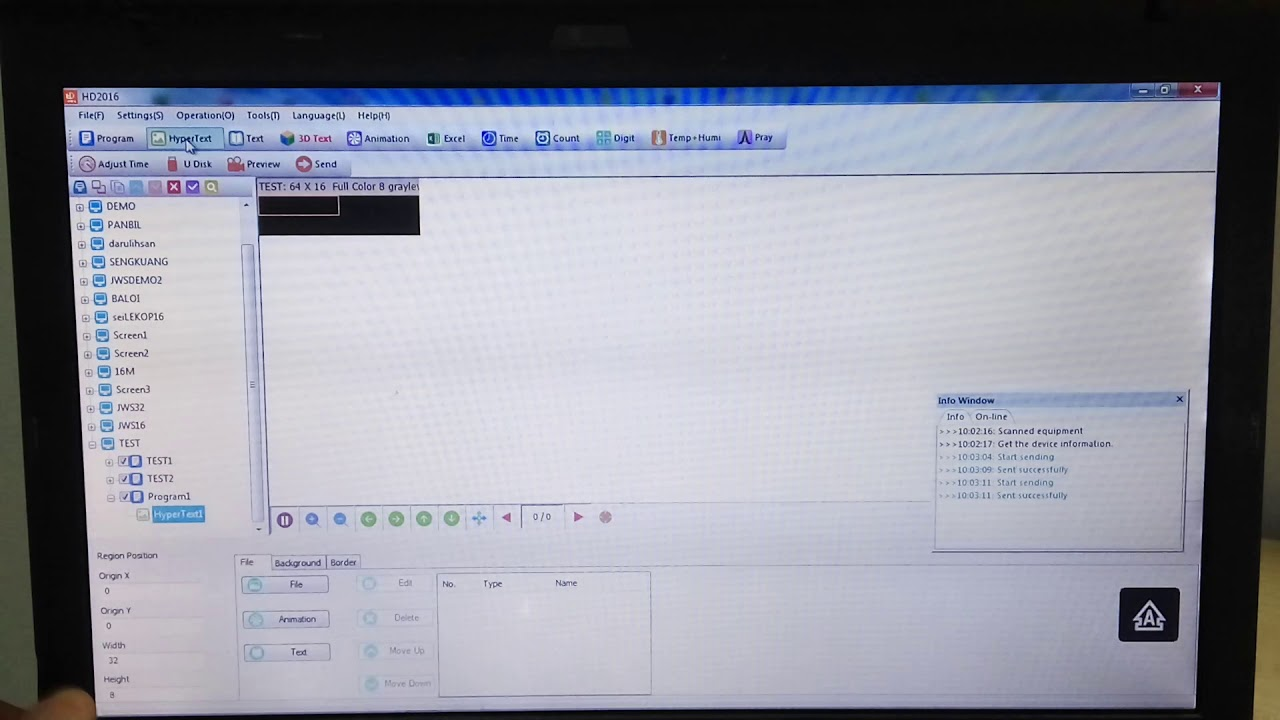 Download Tutorial Software Huidu HD2016