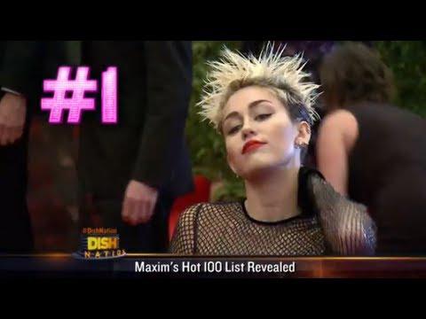 Miley Cyrus Tops Maxim Hot 100