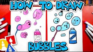 How To Draw Funny Bubbles And Wand