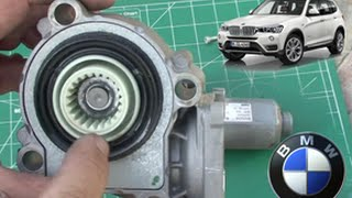 BMW X3 (E83) DIY: Actuator / Solenoid  Gear Replace on Transfer Case