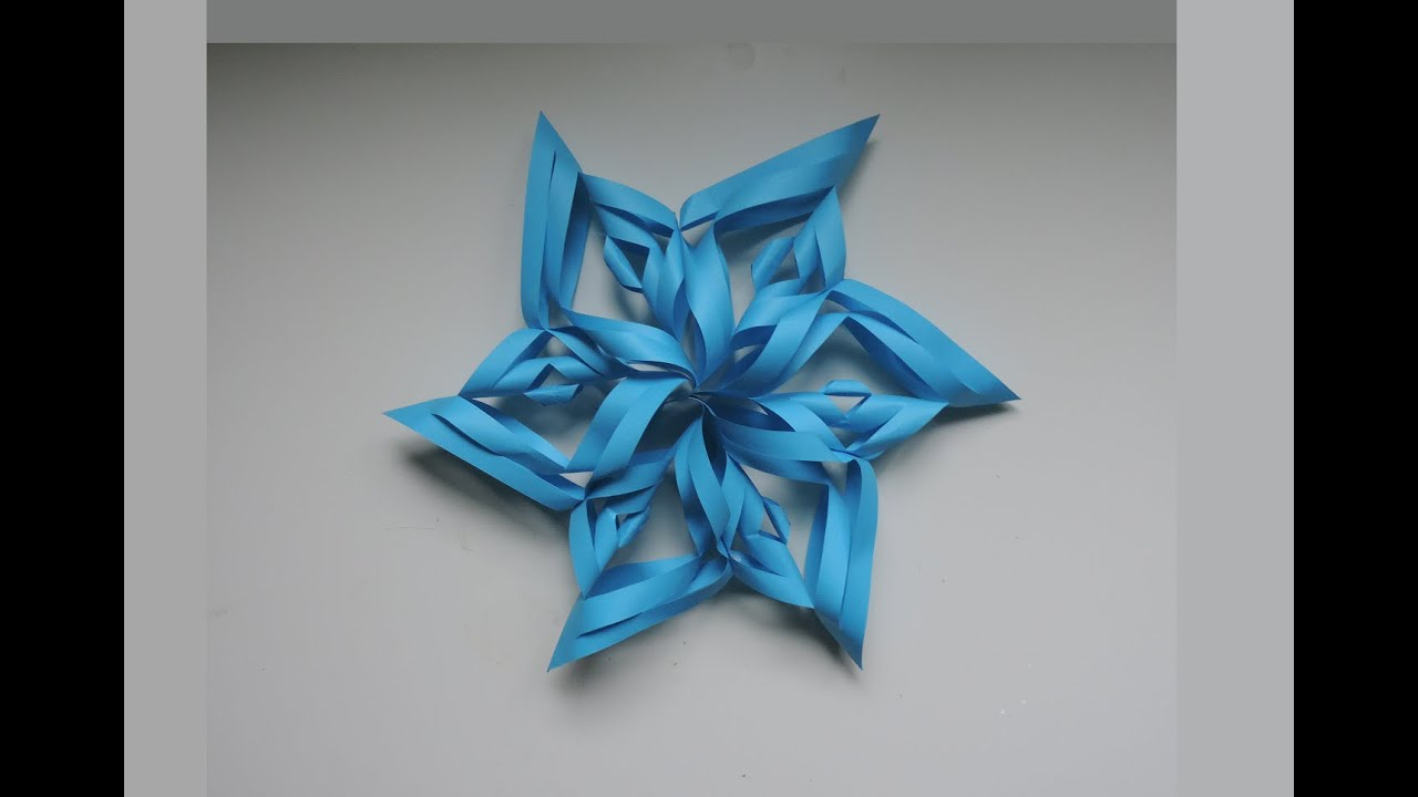 How To Make A 3D Paper Snowflake Origami Kirigami DIY