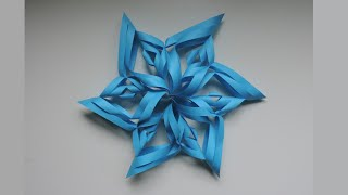 How To Make A 3d Paper Snowflake. Origami / Kirigami (diy)