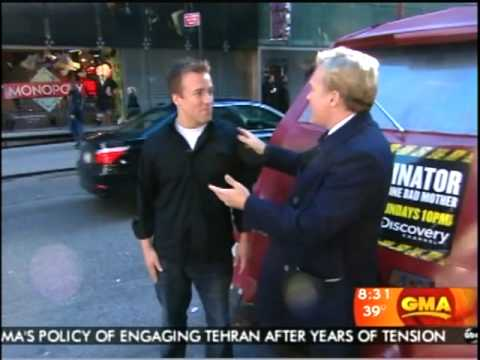 Reed Timmer of Discovery Channel's Storm Chasers on ABC's GMA
