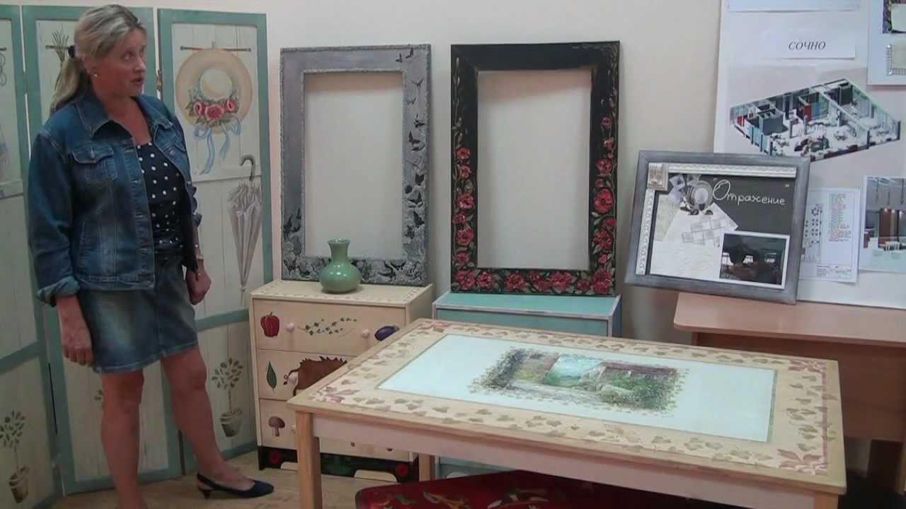 Видео мебель роспись