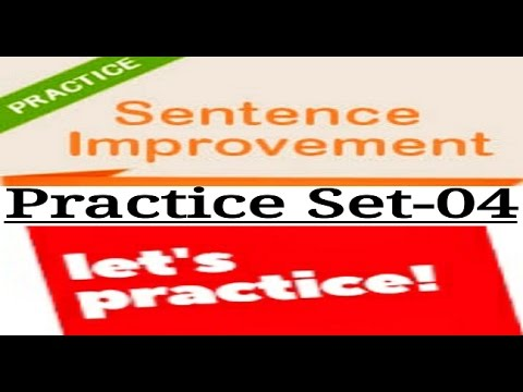 Sentence Improvement Practice Set 4 Most Important