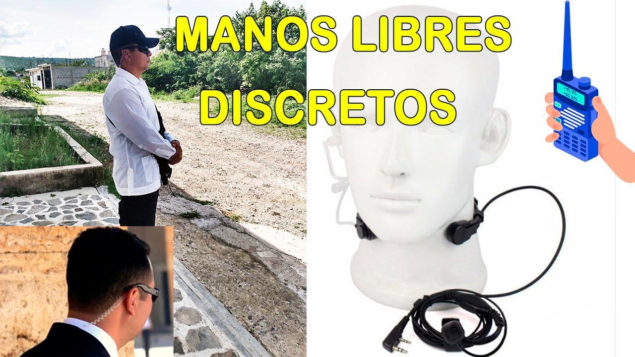COMO UTILIZAR MANOS LIBRES DISCRETOS, CHICHAROS PARA RADIOS
