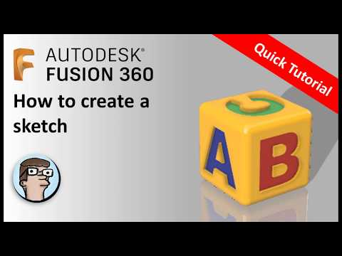 Fusion 360 Tutorial for absolute beginners - Create a sketch thumbnail