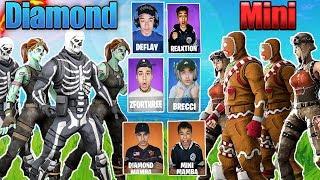Official Team Diamond VS Team Mini Draft! Fortnite Clan Battle Season 2!