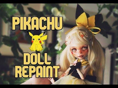 Pikachu Doll Repaint | Pokemon OOAK | etellan