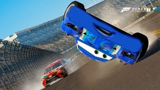 Cam Spinner Crash! | Forza Motorsport 7 | Cars 3\NASCAR