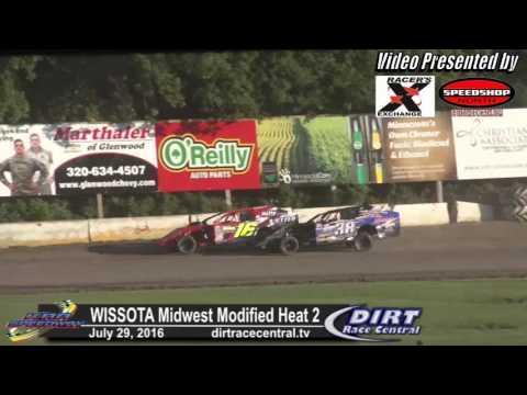 KRA Speedway 7/28/16 WISSOTA Midwest Modifie heat 2