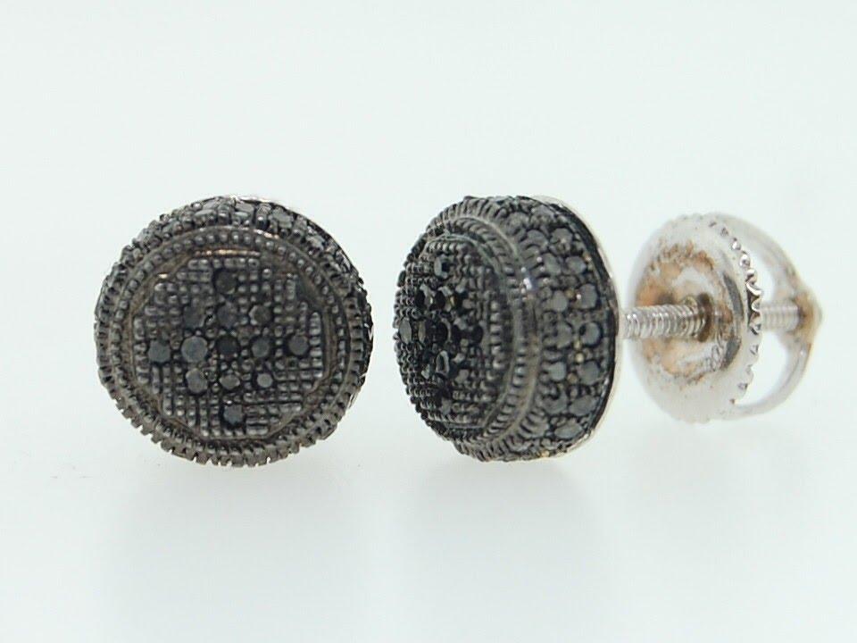 Black Diamond Earrings for Men - YouTube