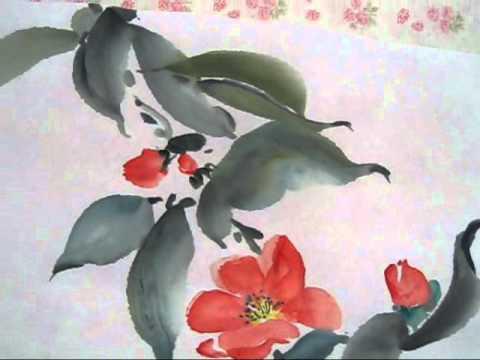 japanese flower painting youtube