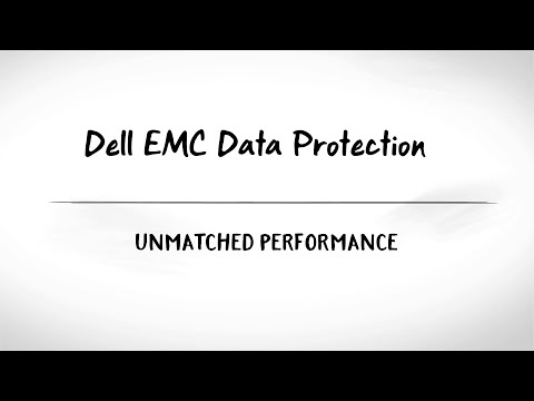 Get Unmatched VMware Data Protection Performance with Dell EMC